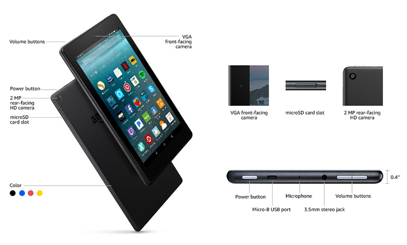 Amazon Fire 7 Tablet features and specs