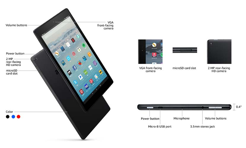 tech details of all-new Fire HD 10 tablet
