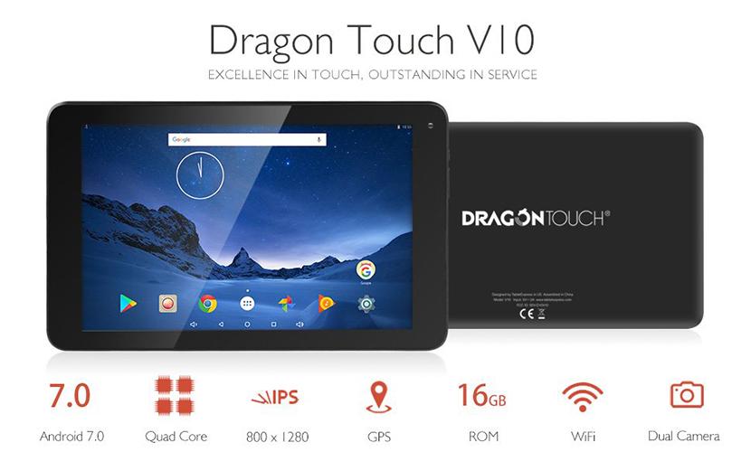 Verdict Dragon Touch V10 10.1 inch Tablet