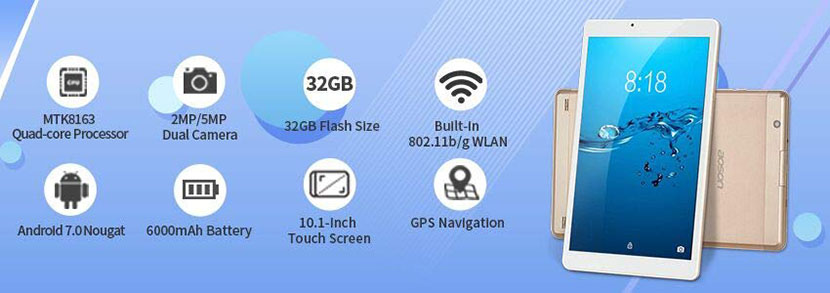 Features AOSON R103 10-inch Tablet