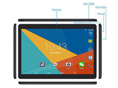 Connectivity Wecool 10-inch 3G Unlocked Tablet