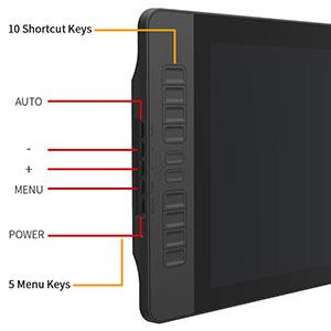 Customizable Keys - GAOMON PD1560