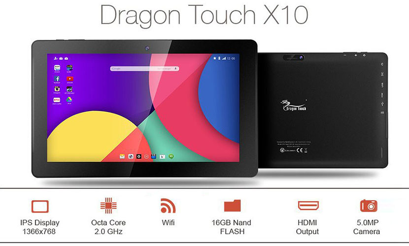 Features Dragon Touch X10 10.6-inch Tablet