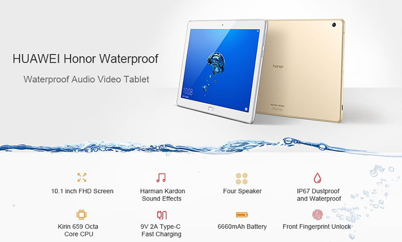 HUAWEI Honor Waterplay HDN-W09 Specs