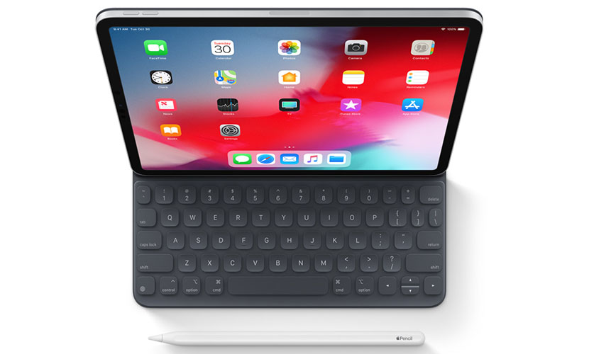 iPad Pro 2018 with keyboard and pencil