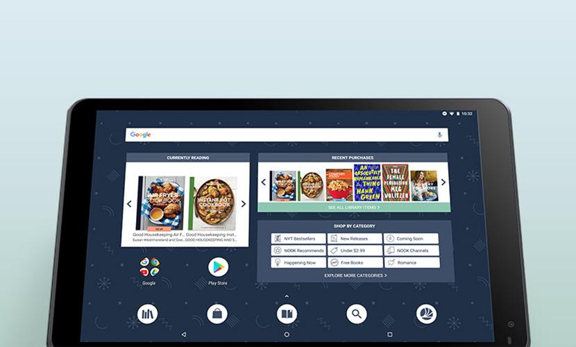 IPS display of Nook 10.1 tablet