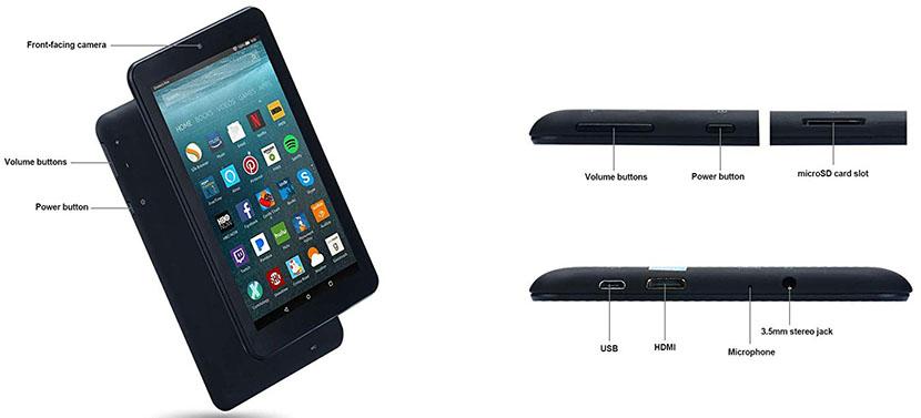 Pisen HN-PAD-7-PS Tablet Slots and Keys