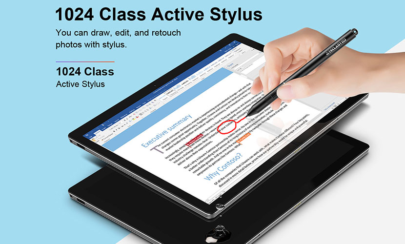 Teclast X6 Pro comes with 1024 class active stylus