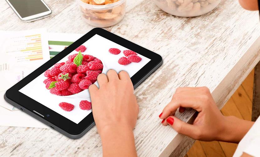 display of Victbing V07G 7-inch tablet