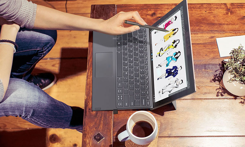 Lenovo Miix 630 with keyboard and pen