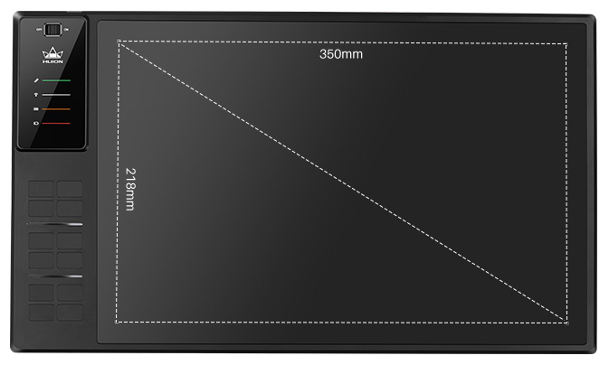 HUION WH1409 V2 Comes With Large Working Area