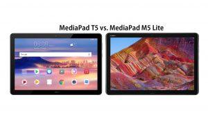 Huawei MediaPad T5 vs M5 Lite