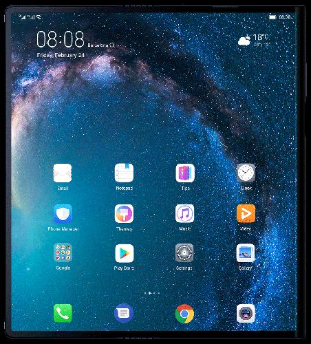 Unfolded Huawei Mate X