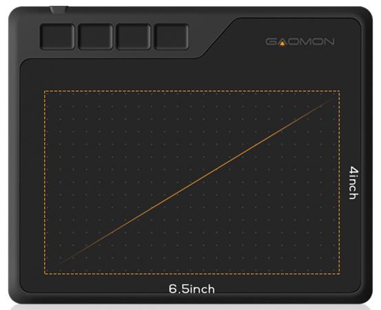 6.5x4 inch working area of GAOMON S620