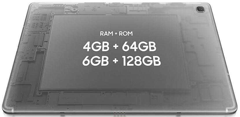 RAM and Storage of Samsung Galaxy Tab S5e