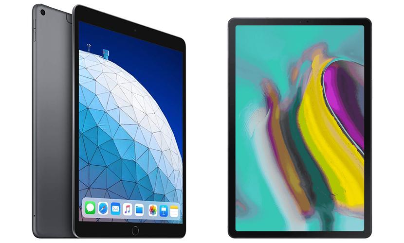 iPad Air and Galaxy Tab S5e