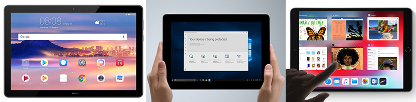 10-inch Android, Windows and iOS tablets
