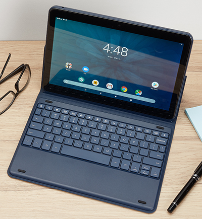 10.1 inch Onn tablet with keyboard