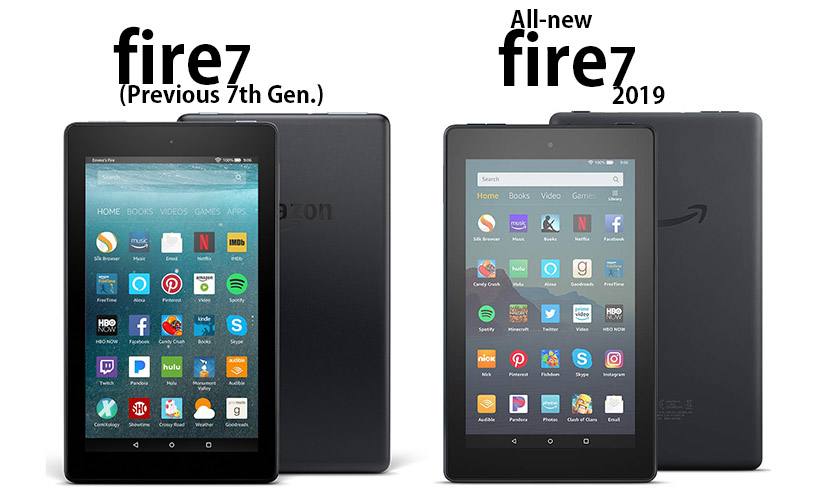 7th Gen. and all-new 2019 Fire 7 tablets