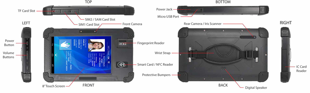 CardLogix BIOSID Biometric Tablet Specs