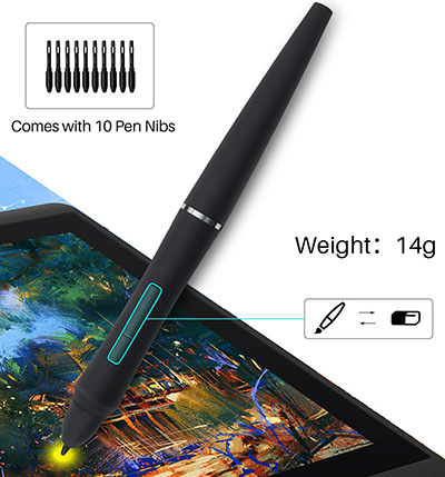 Battery free pen of Artisul D16