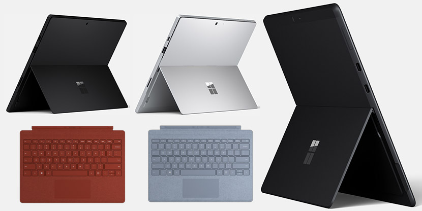 Surface Pro 7 and Pro X Color Options