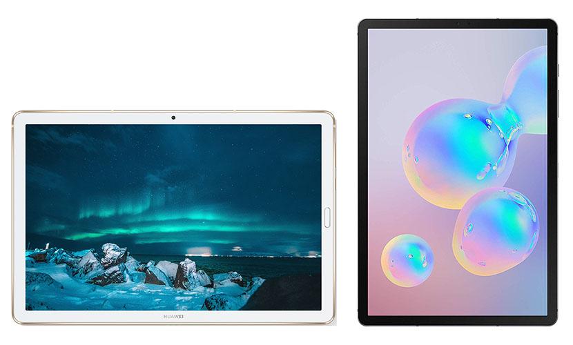 Display of MediaPad M6 and Galaxy Tab S6