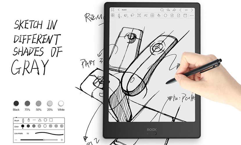 Drawing Sketches in Boox Note 2