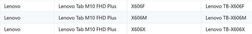 Lenovo Tab M10 FHD Plus on GitHub