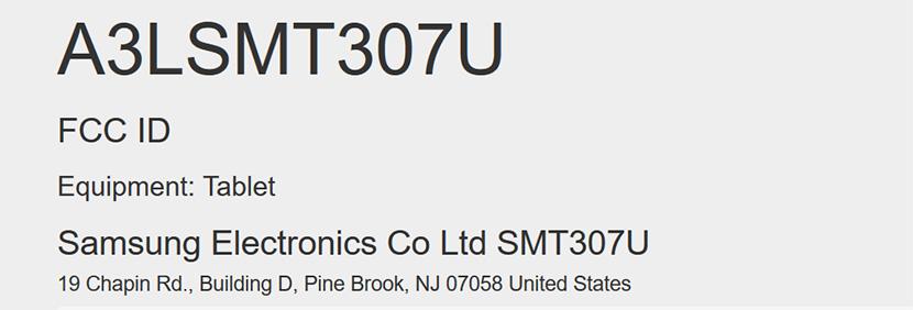 Samsung SM-T307U FCC ID