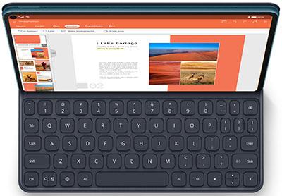 Huawei MatePad Pro 5G with keyboard