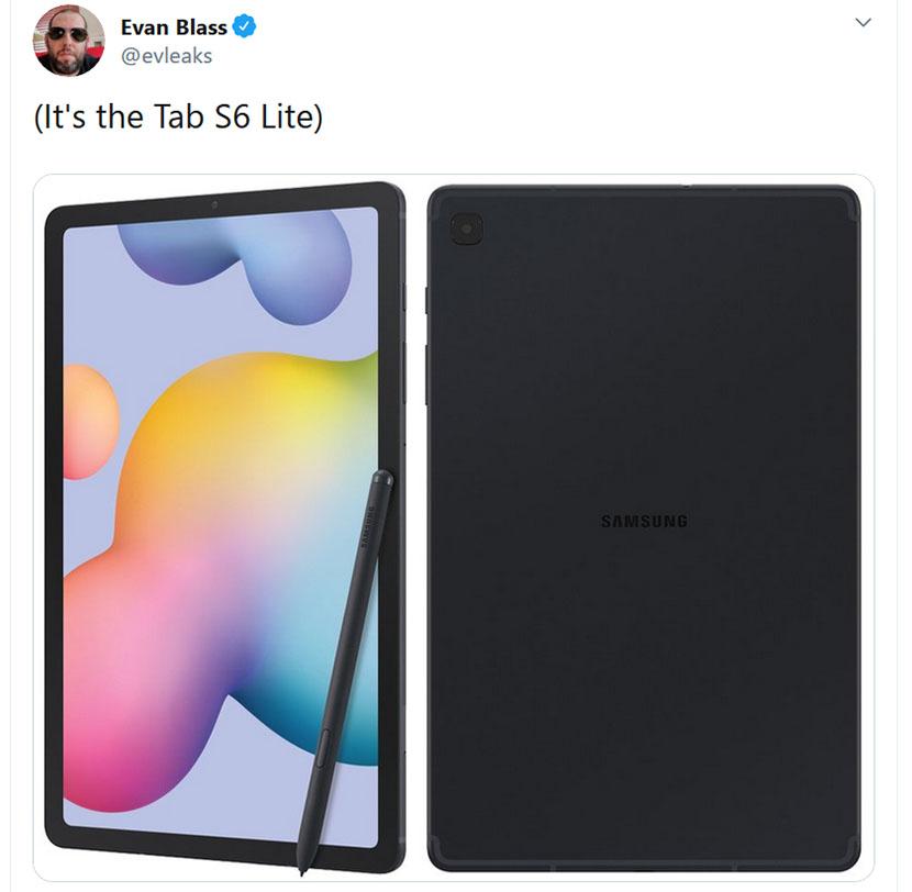 Tab S6 Lite image leaked by Evan Blass