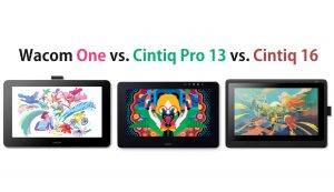 Wacom One vs Cintiq Pro 13 vs Cintiq 16