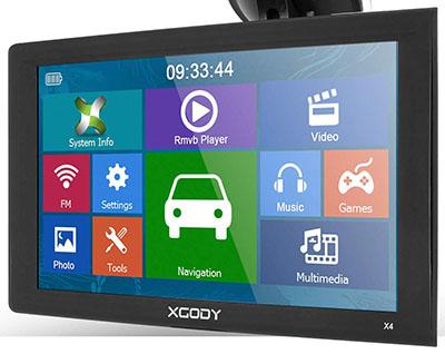XGODY 9-inch Trucking GPS