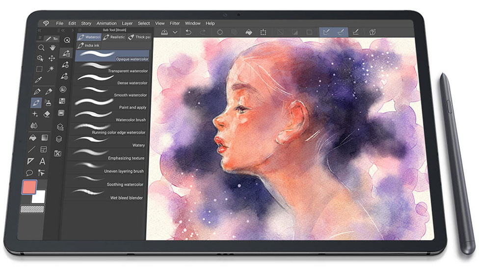 samsung galaxy tab s7 plus with s-pen