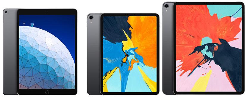 iPad Air and iPad Pro
