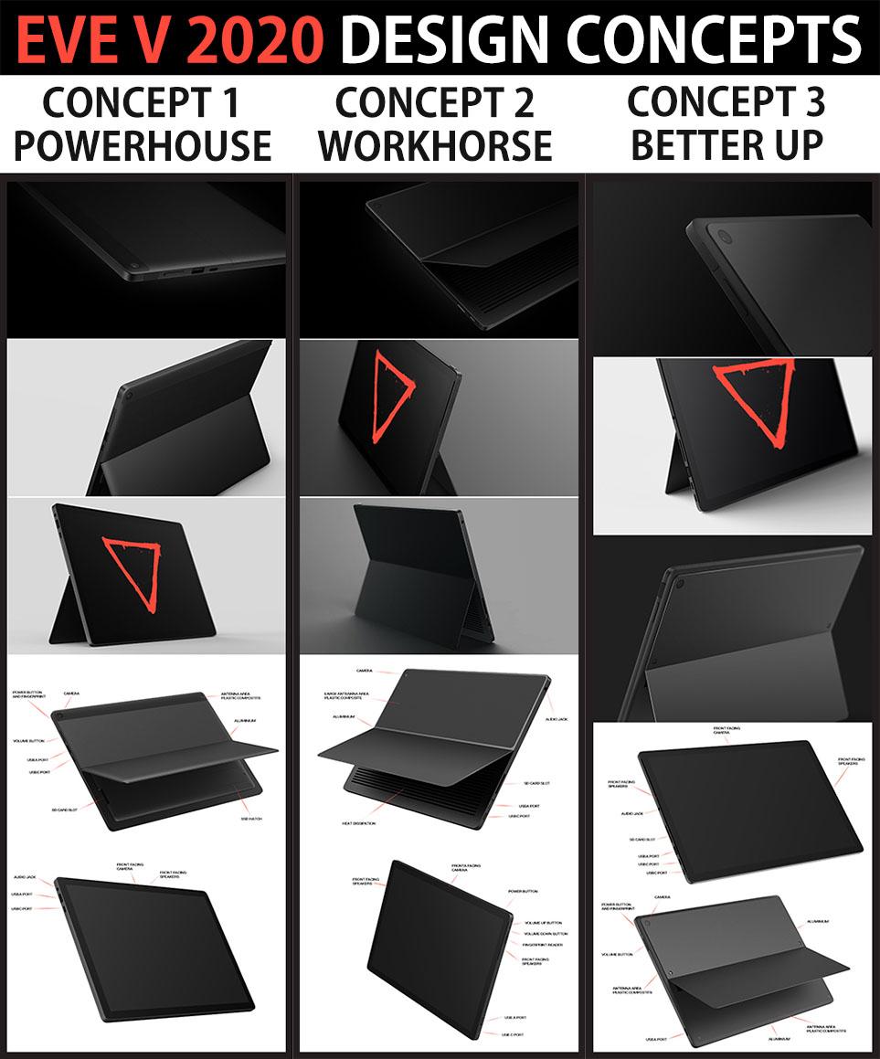 Eve V 2020 Design Concepts