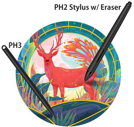 XP-Pen PH2 and PH3 Stylus