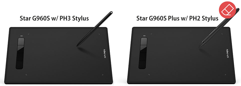 XP-Pen Star G960S and G960S Plus with Stylus