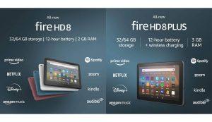 Fire HD 8 9th Gen. and Fire HD 8 Plus