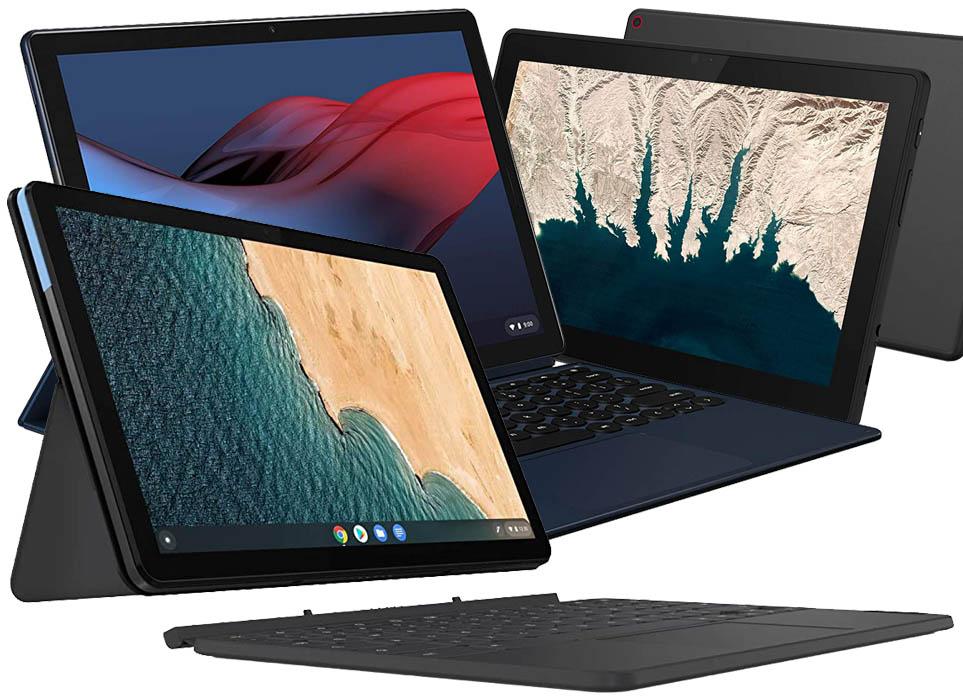 Lenovo Chromebook Duet vs 10e Chromebook vs Pixel Slate