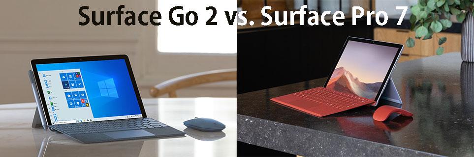 Surface Go 2 vs Surface Pro 7