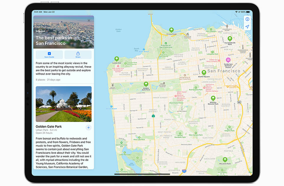 iPadOS 14 Maps New Guides