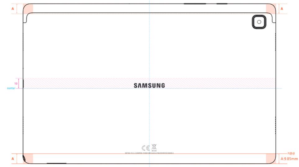 Samsung Galaxy Tab A7 SM-T505 Diagram