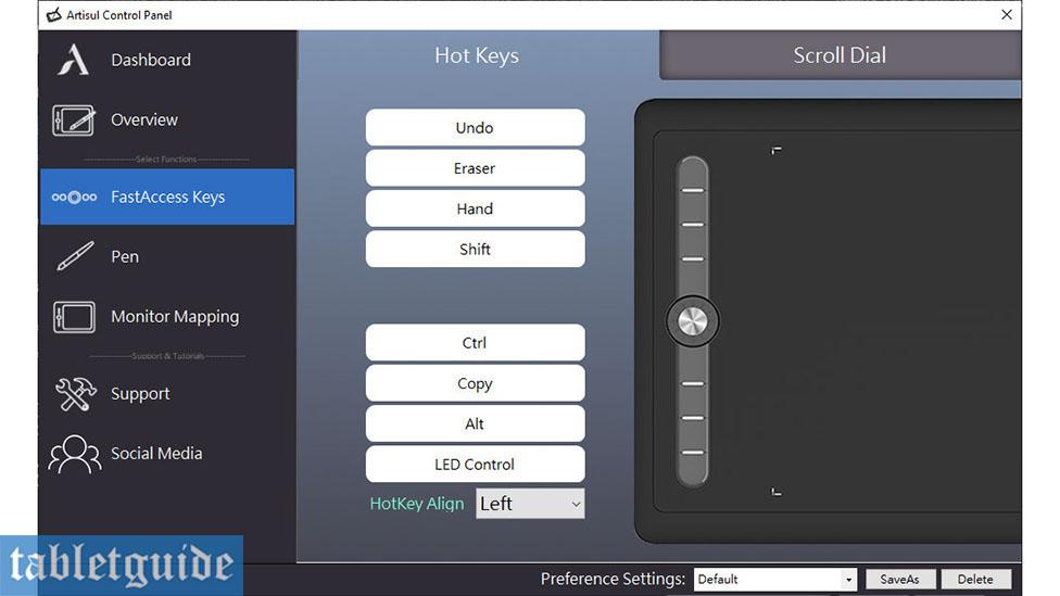 Artisul M0610 Pro Control Panel Keys
