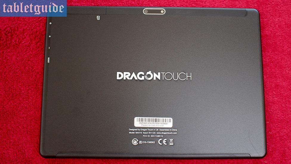 Dragon Touch Max10 Back Design