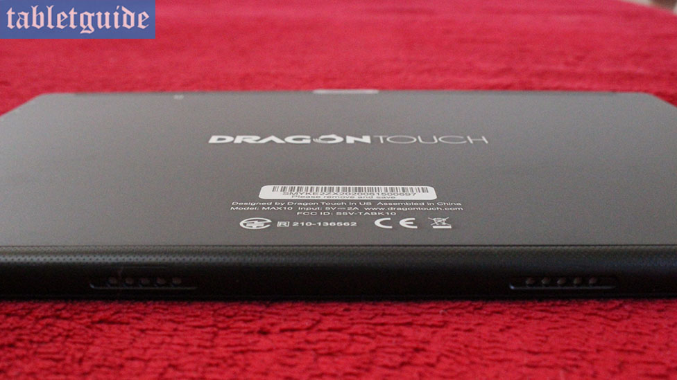 Dragon Touch Max10 Speakers