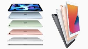 4th gen apple ipad air and 8th gen ipad