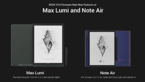 onyx boox max lumi and note air