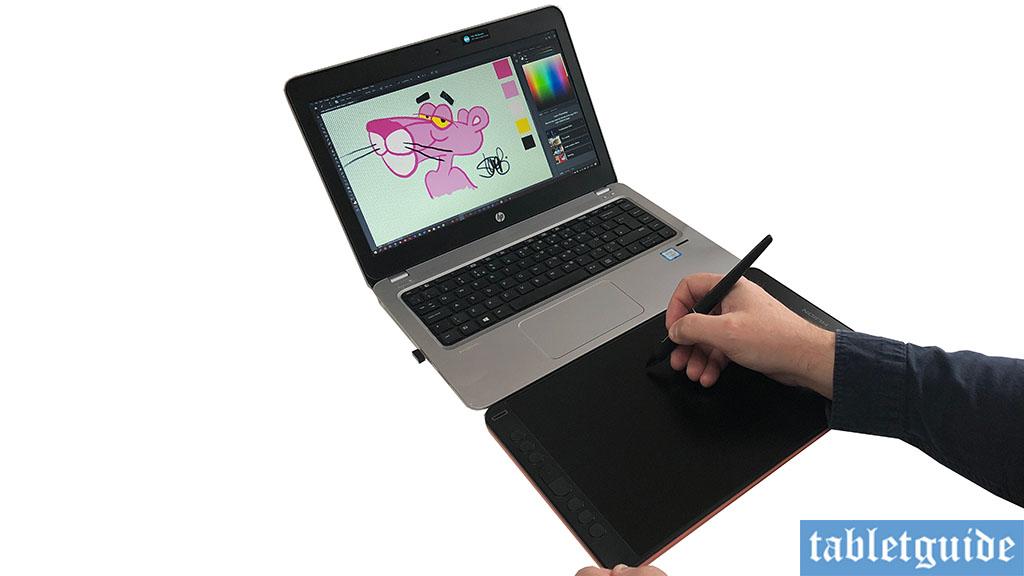 huion kamvas 12 in pen tablet mode